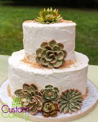 Wedding Cake Decorated with Cacti