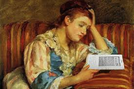old fashioned woman reading 2